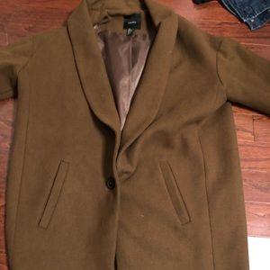 Brown Wool Trench/Pea Coat